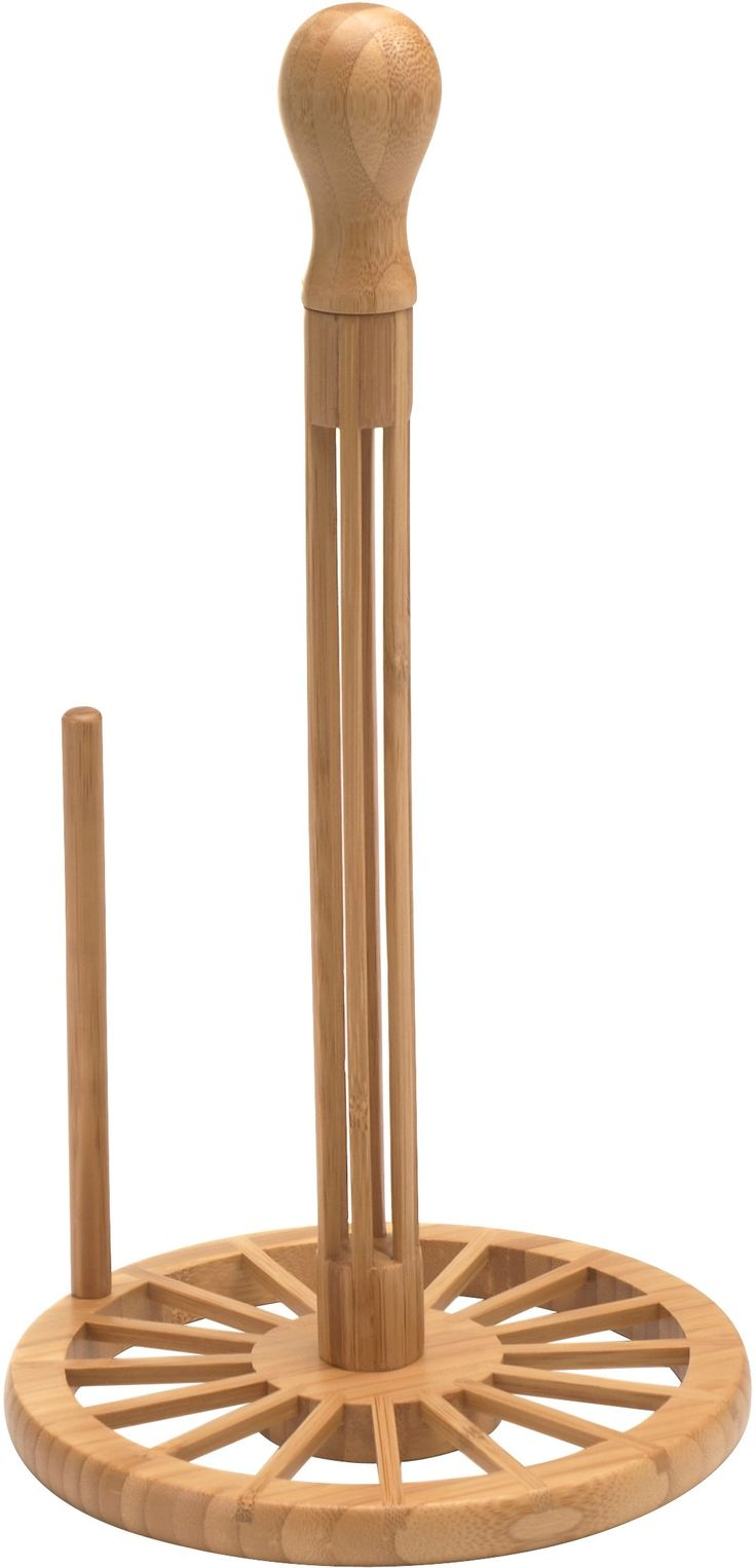Clean up in style with this paper towel holder from the Fresco line by Anchor Hocking. Constructed from high-quality bamboo, it features and easy to load design. This attractive, modern paper towel holder adds a perfect touch to your kitchen and is sure to come in handy time and again.