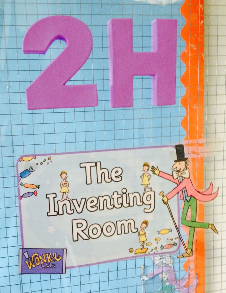 Door. Wonka theme classroom.