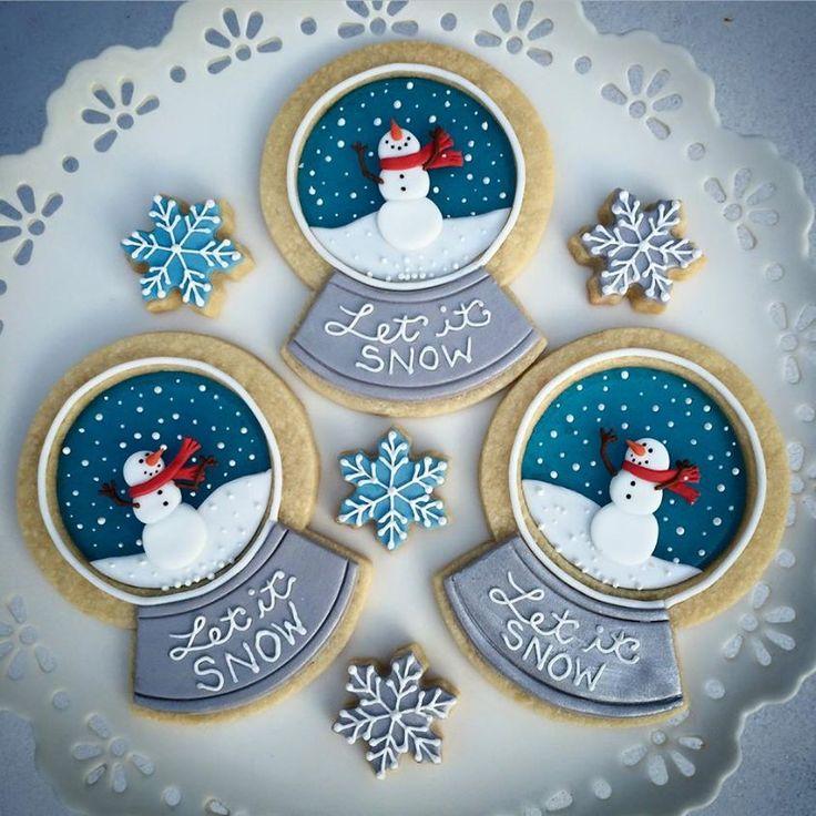 Cute Snow globe cookies