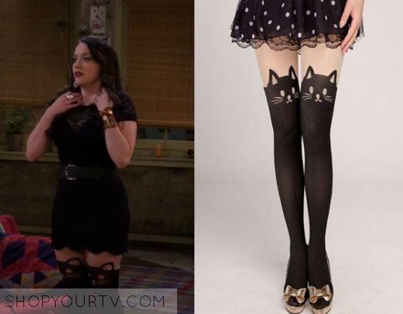 Season 5 Episode 6 Max's Cat Print Stockings http://www.shopyourtv.com/2016/01/2-broke-girls-season-5-episode-6-maxs-cat-print-stockings/