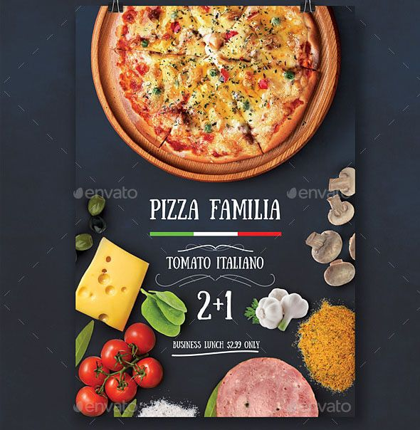 cool 19 Nice Pizza Flyer PSDs