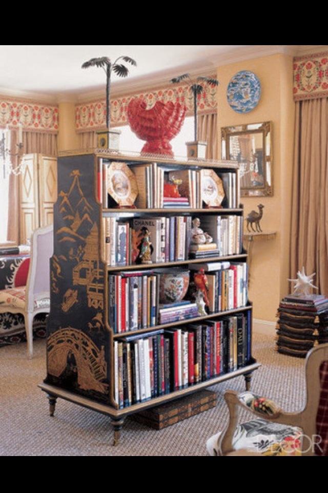 Rococo bookcase room divider dream studio stuff - Bookshelves as room dividers ...