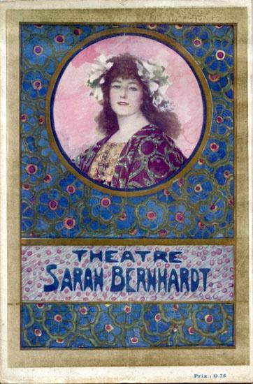 Programme Théâtre Sarah Bernhardt. Jeanne Doré (1913).