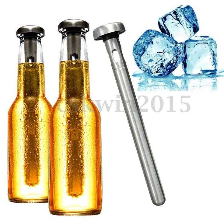 Wein-Kuehler-Eis-Stick-Kuehlstab-Icestick-Wine-Chiller-Stick-Edelstahl-21-5x3-2cm