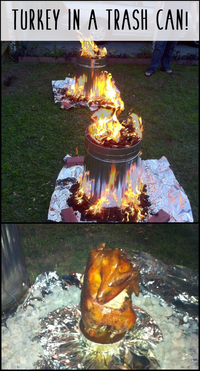 Your Thanksgiving turkey in a trash can and in just 90 minutes! Learn how here...
