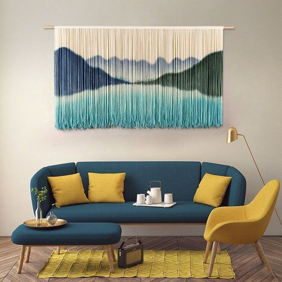 Aurtem Tapestry Wall Hanging Art Hand Woven Home Living Room Etsy In 2021 Home Living Room Bedroom Decor Living Room Bedroom