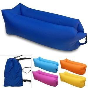 Air Canapé gonflable Chaise longue de plage,portable,canapé Matelas gonflable imperméable pour les signaux Lazy camping Bleu royal