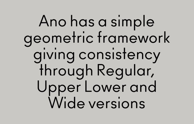 Ano - Font by Alias