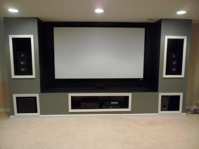 Basement big screen.