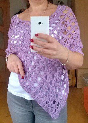 Kup mój przedmiot na #vintedpl http://www.vinted.pl/damska-odziez/peleryny-narzutki/15894542-liliowa-narzutka-recznie-robiona-na-lato-i-zime-owersize