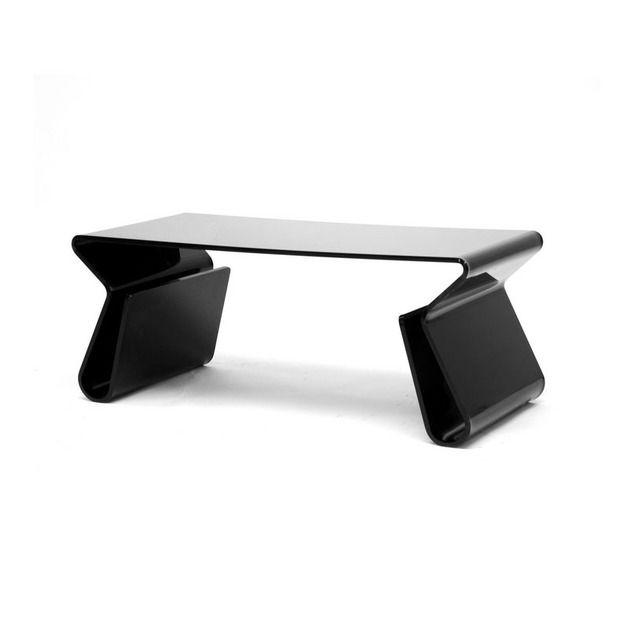 Modern Sculpted Coffee Table   Dot U0026 Bo   $330