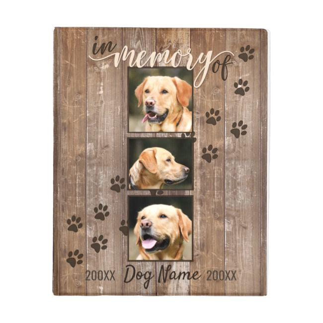 Custom Dog Memorial Rustic Wood Look Mini Binder Zazzle Com Dog Memorial Dog Gifts Animal Room