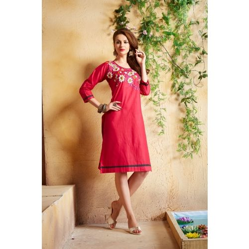 Saiveera New Fabulous Red Color Cotton Kurti_vat045 Saiveera Fashion is a #Manufacturer Wholesaler,Trader, Popular Dealar and Retailar Of wide Range Salwar Suit, Dress Material, Saree, Lehnga Choli, Bollywood Collection Replica, and Also Multiple Purpose of Variety Such as Like #Churidar, Patiala, Anarkali, Cotton, Georgette, Net, Cotton, Pure Cotton Dress Material. For Any Other Query Call/Whatsapp - +91-8469103344.