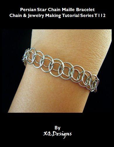 T112 Persian Star Chain Maille Bracelet Tutorial jump rings: http://www.ecrafty.com/c-201-jump-rings-split-rings.aspx