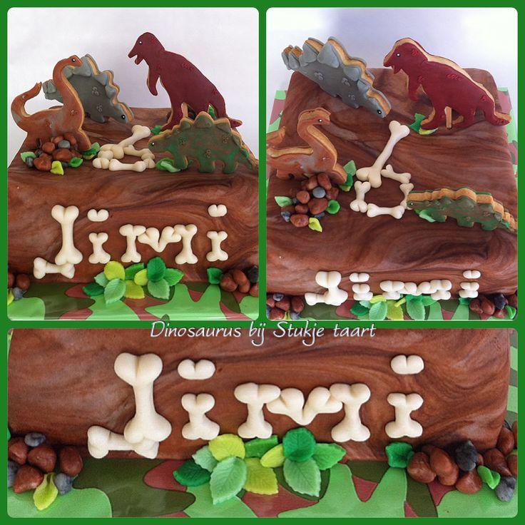Dinosaurus koekjes taart