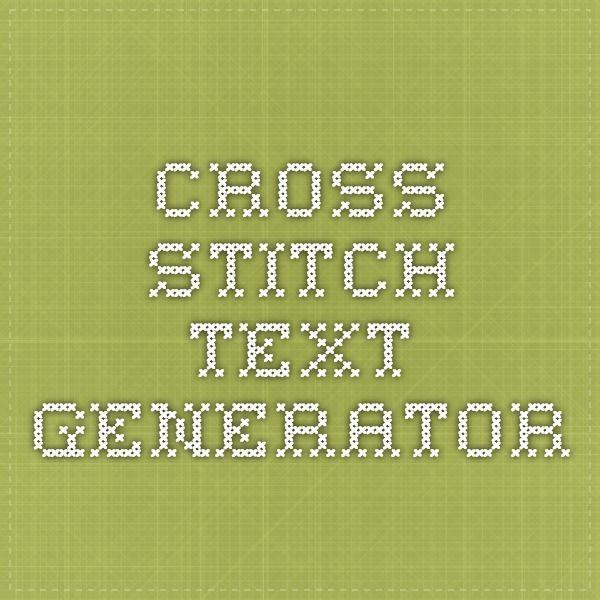cross stitch text generator