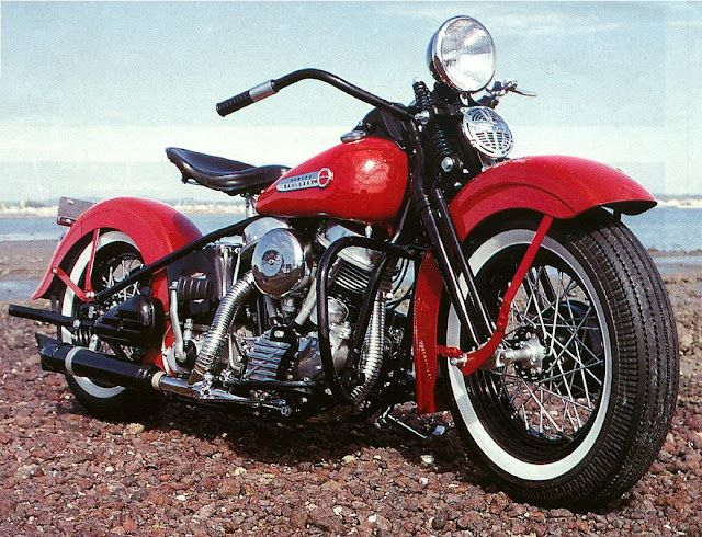 Here you go this is a  Harley-Davidson #Panhead '48 and it's perfect red! #www.nycfitnessfamilyfinds.net
