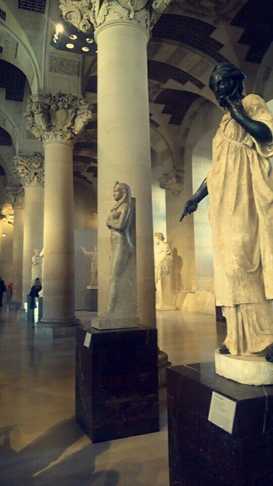 Ancient statues at Musée du Louvre