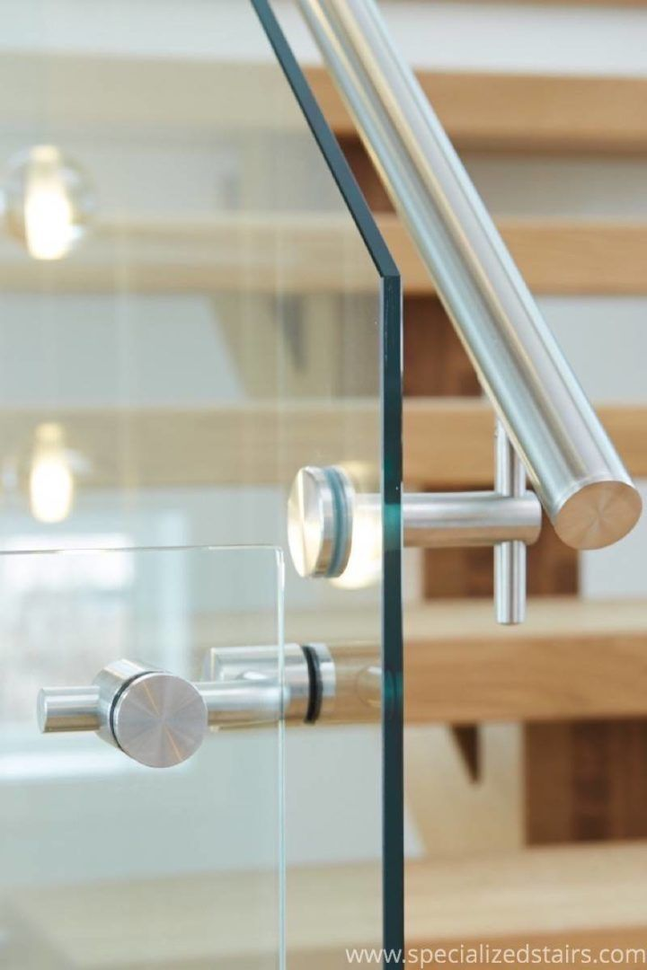 White Oak Mono with Steel and Glass | Specialized Stair and Rail