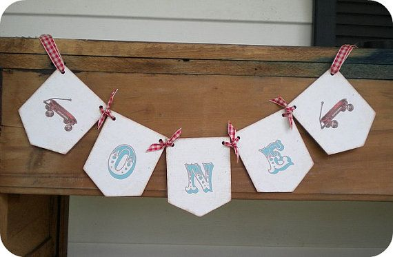 NEW Personalized Little Red Wagon Banner by LittlePaperFarmhouse