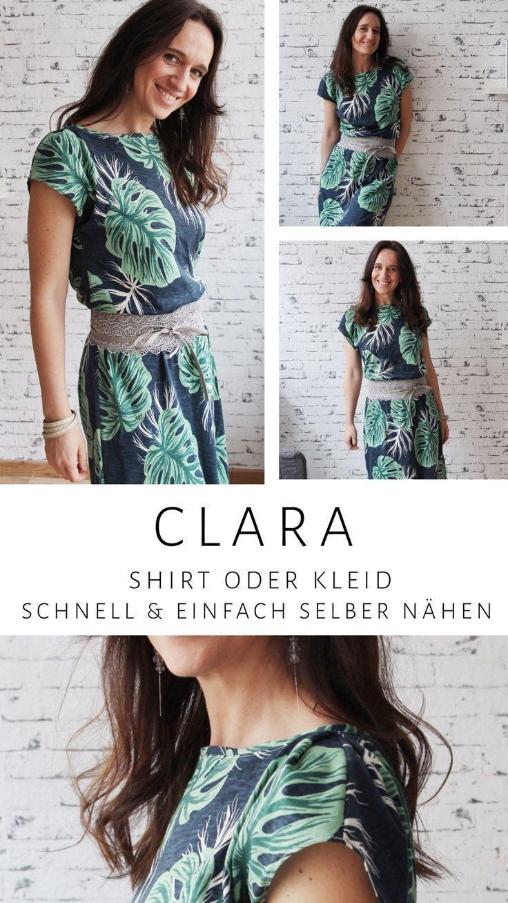 Einfach Clara Sommerkleid nähen – #Clara #Kleidung #Kleid #Nähen #Einfach