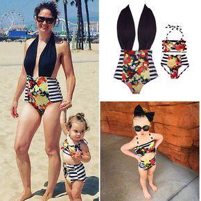 Family Matching Women Kids Baby Girl Floral Bikini Set Bathing Swimwear Swimsuit
