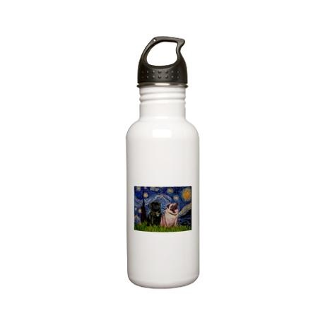 Stainless steel water bottle on starry nights water bottles and