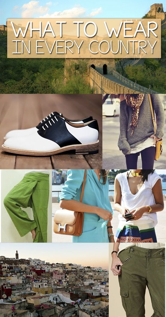 Studying abroad packing musts! Tips on what to wear in different countries.