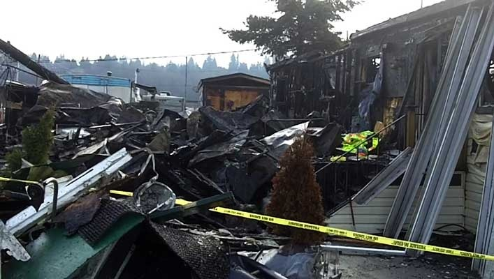 Two trailers were destroyed and three others were damaged in suspicious Bridgeview fire.