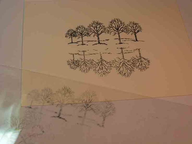 Marvelous Rubber Stamp Card Making Ideas Part - 11: Mirror Rubber Stamp Technique Using Acetate.