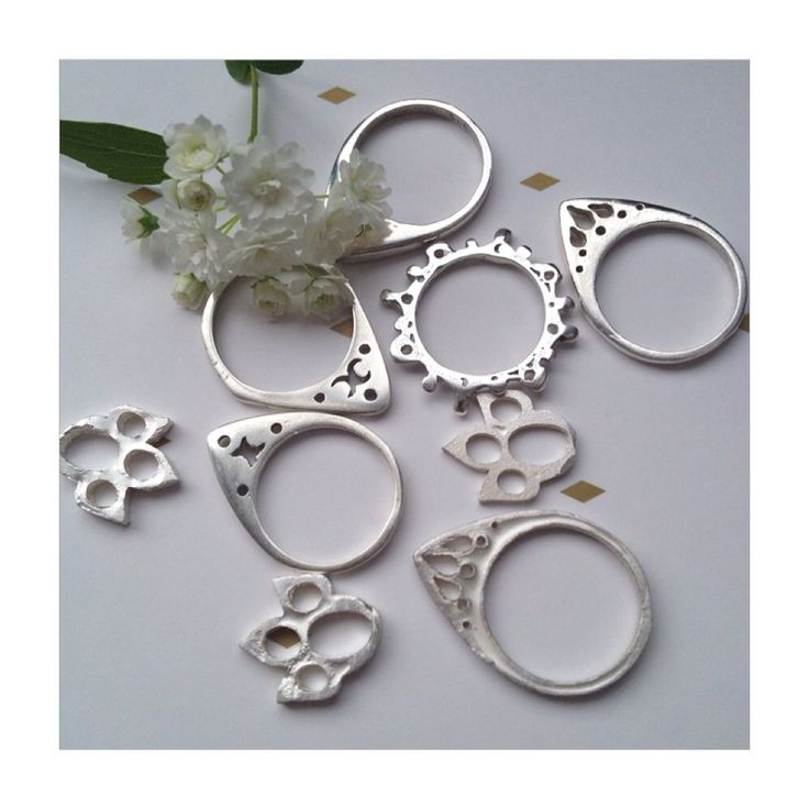 Rings by elfic jewellery handmade to order on the centralcoast.