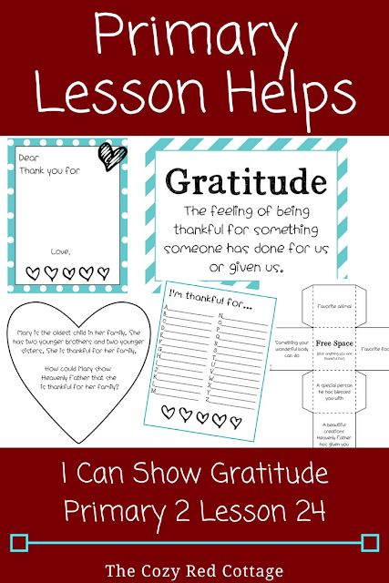 I can Show Gratitude (Primary 2 Lesson 24)