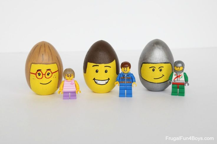 LEGO Minifigure Decorated Easter Eggs - Frugal Fun For Boys and Girls in 2021 | Lego easter eggs, Easter egg decorating, Lego easter