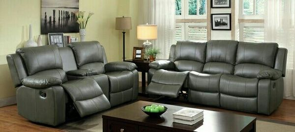 Plush new 2 pc motion sofa set