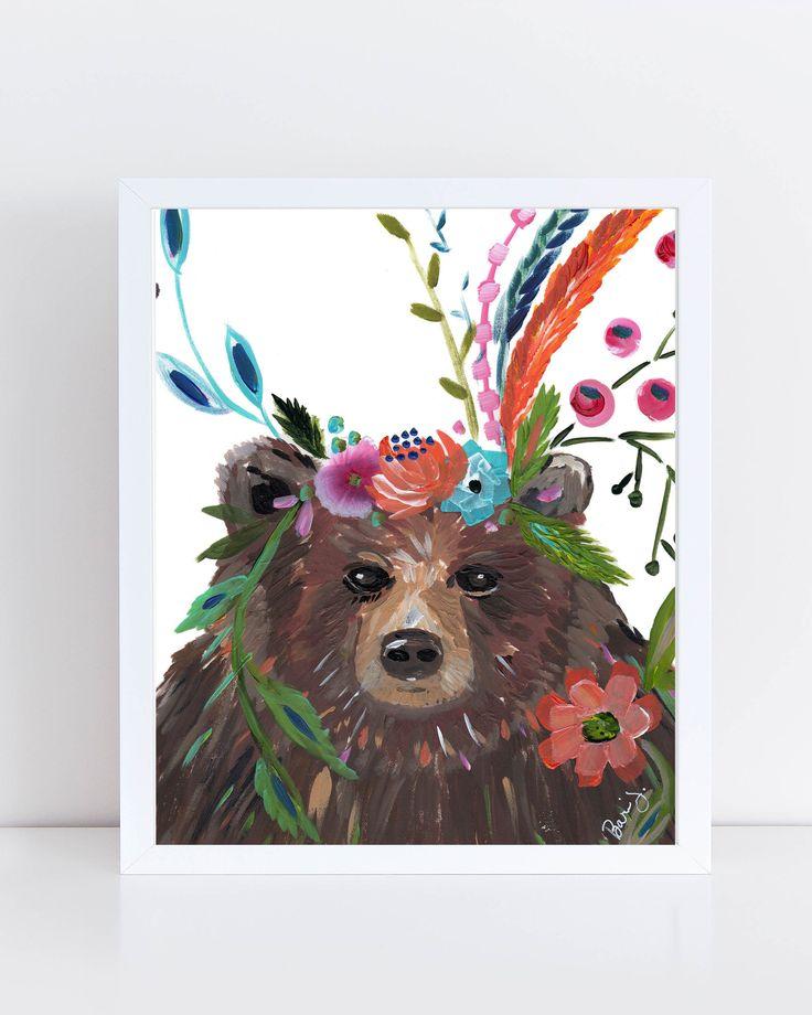 Mama Bear Art Print – Bari J. Designs