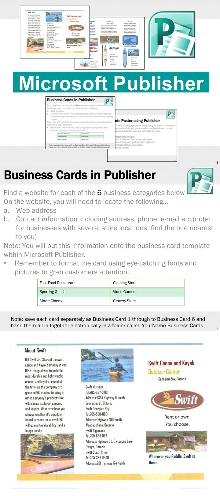 Design banner in publisher - Microsoft Publisher Activities