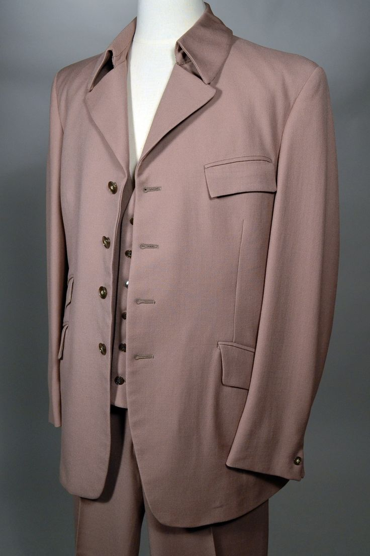 MOD! 3 PIECE 60's VINTAGE EDWARDIAN STYLE VESTED SUIT - HARDY AMIES - SAVILE ROW - 42L - Available for sale at rpvintage.com.