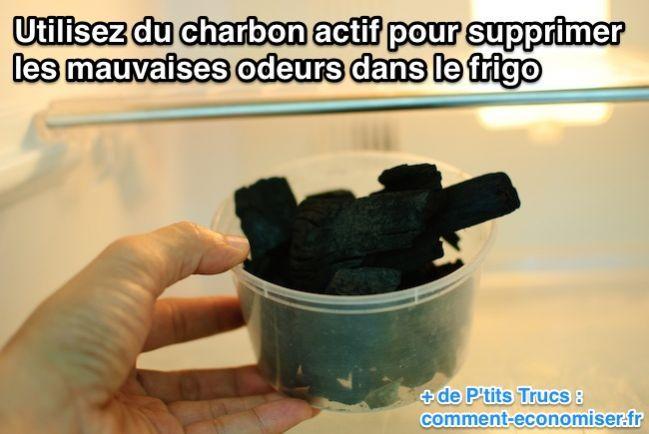 Utilisez du charbon actif pour supprimer les  mauvaises odeurs dans le frigo