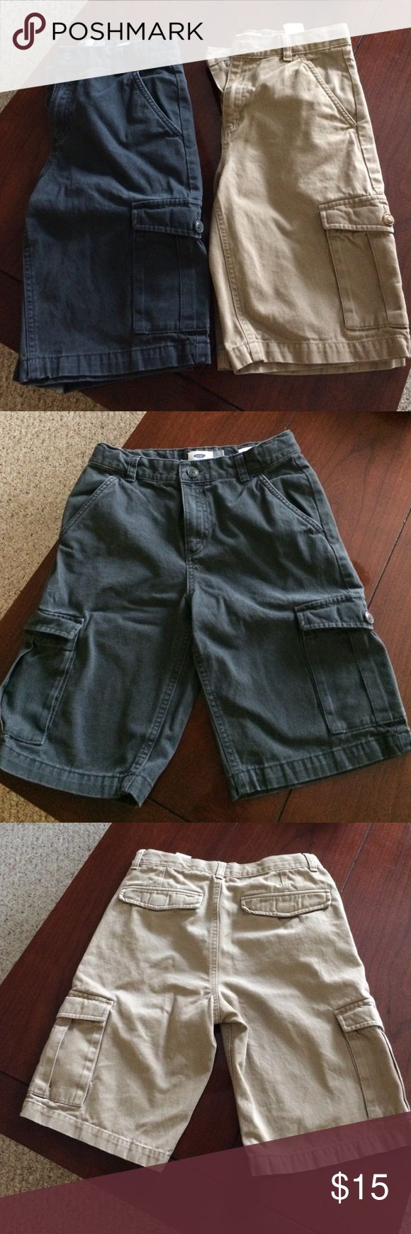 2 Pair of Old Navy Boys Cargo Shorts Gently used. No stains or visible wear Old Navy Bottoms Shorts