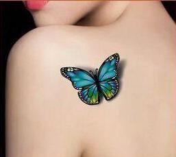 (Min encomendar us $0.5) 3D de Alta qualidade de flash Borboleta tatuagem Temporária À Prova D' Água Tatuagem tatoo Tatto henna maquiagem dia das bruxas WM004B