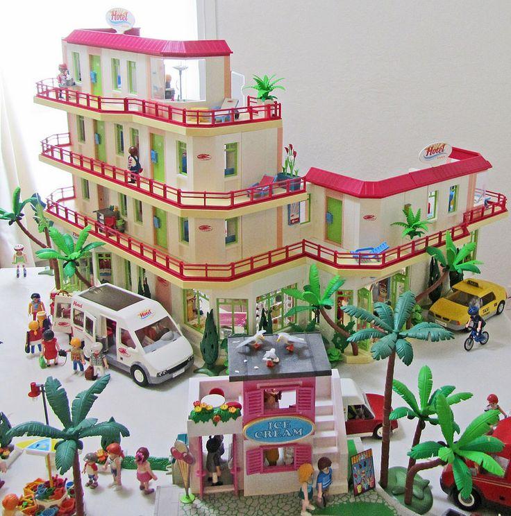 Mejores 87 im genes de playmobil en pinterest playmobil juguetes y arte zombie - Playmobil 3230 casa de vacaciones ...