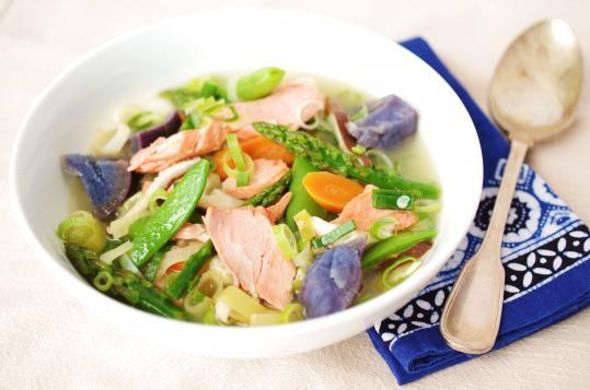 Recipe for salmon and vegetable bollito - The Boston Globe
