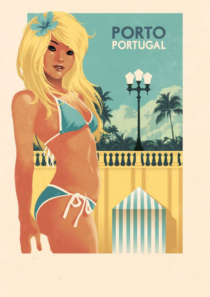 Rui Ricardo  | Vintage Travel Poster