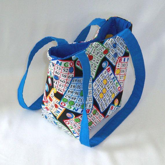 Bingo Purse Tote Bag Fabric Handbag Small by ...