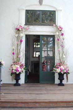 25 best was wedding church flower entrance images on pinterest wedding ceremony great alternative to a swag over church doors junglespirit Image collections
