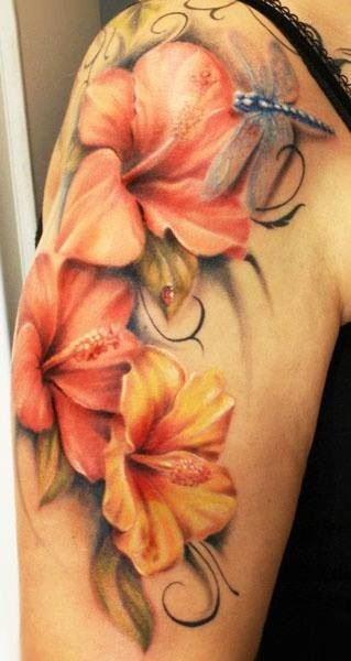 Flower tattoo - love these soft lines!