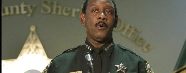 Orange County Sheriff Jerry Demings during a news conference about the Casey Anthony case in 2011 (John Raoux/AP)