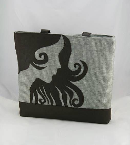 remix / taška Fantasy šedá hnedá
