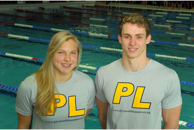 Ben Proud and Ruta Meilutyte (Photo courtesy of John Allen)