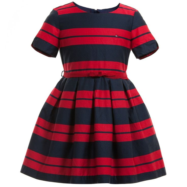 Tommy Hilfiger Navy Blue & Red 'Emy' Stripe Dress at Childrensalon.com